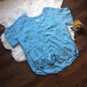 Love linen j.jill Button up shirt size medium
